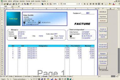 Gérez vos factures avec Excel